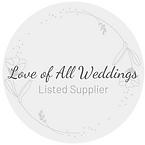 Love of All Weddings Supplier Logo