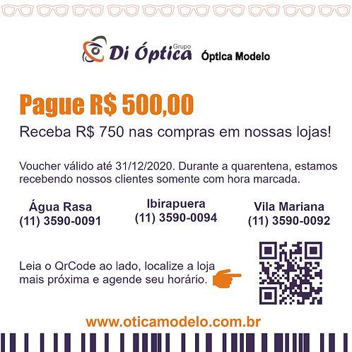 Voucher - R$ 750,00