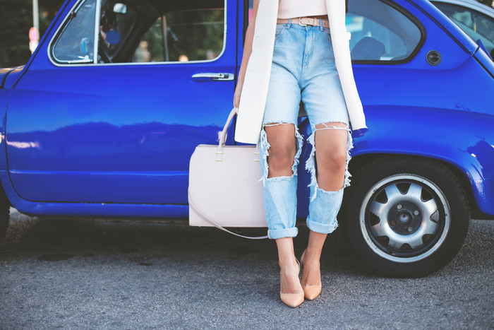 Ripped Jeans for Instagram e-commerce
