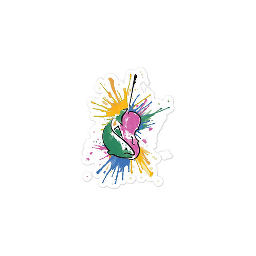 Fish & Fiddle Splash Logo stickers