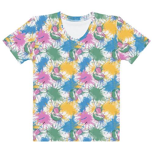 Fish & Fiddle Pattern Women's T-shirt