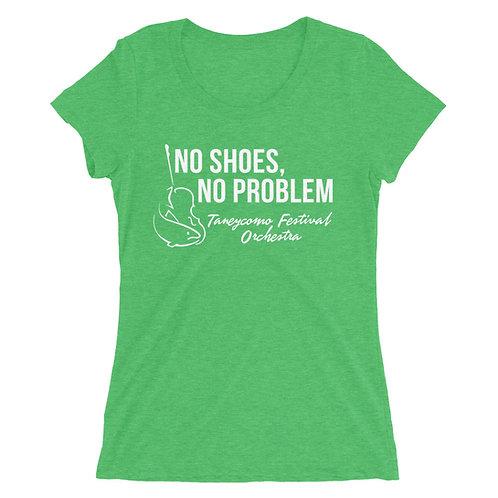 No Shoes, No Problem Ladies' t-shirt