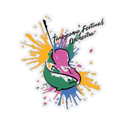 TFO Splash Color Logo Stickers