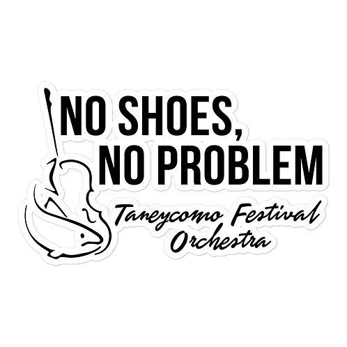 No Shoes No Problem stickers