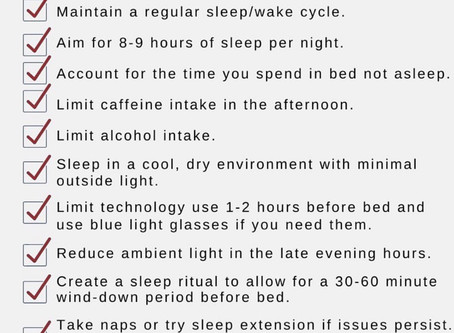 KEY POINTS TO A BETTER SLEEP