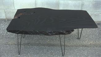 BURNT ASH COFFEE TABLE