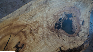 ASH AND EPOXY COFFEE TABLE