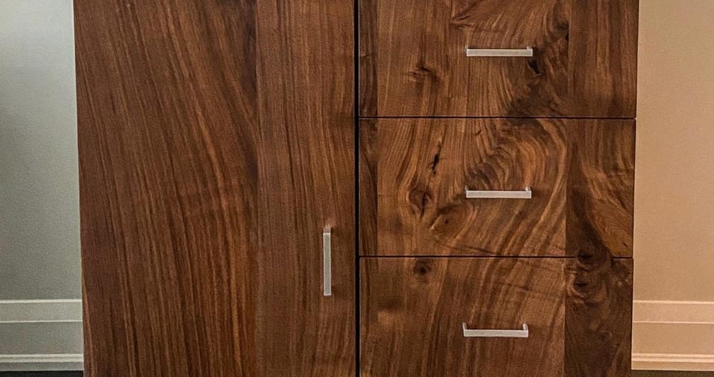 Walnut cabinet