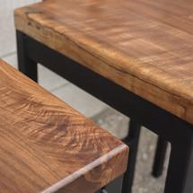 Walnut bar stools
