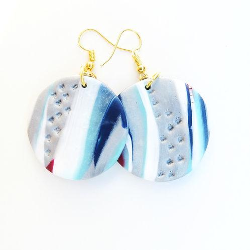 Handmade polymer clay  dangle casual earrings