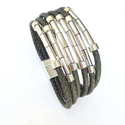 Layered bracelet with silver Squads