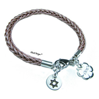 Star of David leather bracelet