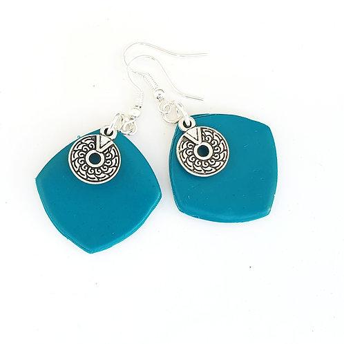 Turquoise  medium dangle earrings