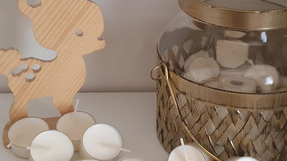 Bougies chauffe-plat sans parfum