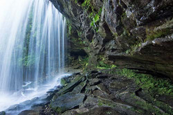 Schoolhouse Falls under the Falls