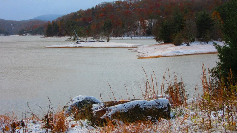 Lake Glenville Covered in Ice