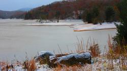 Lake Glenville Covered in Ice
