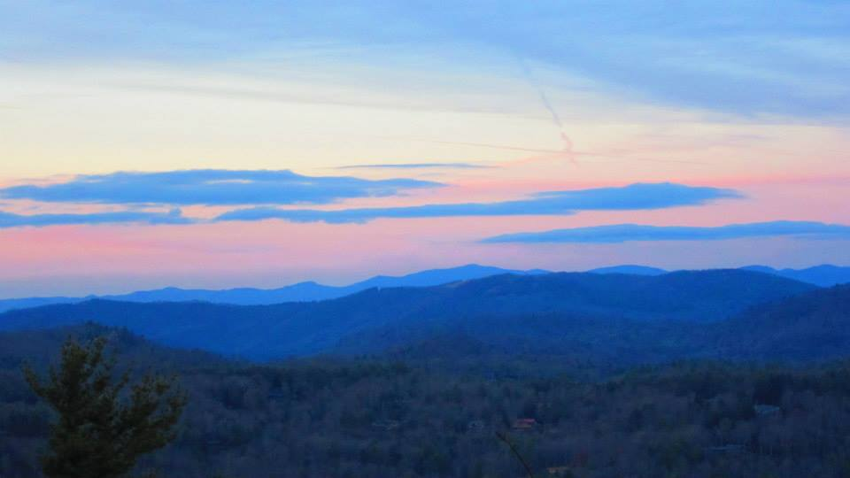 Sunset Between Highlands & Cashiers