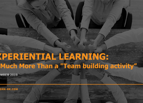 Experiential learning is more than a team activity.