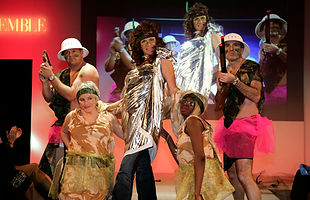 project runway, fashion team building, Justwork, team building, corporate team building