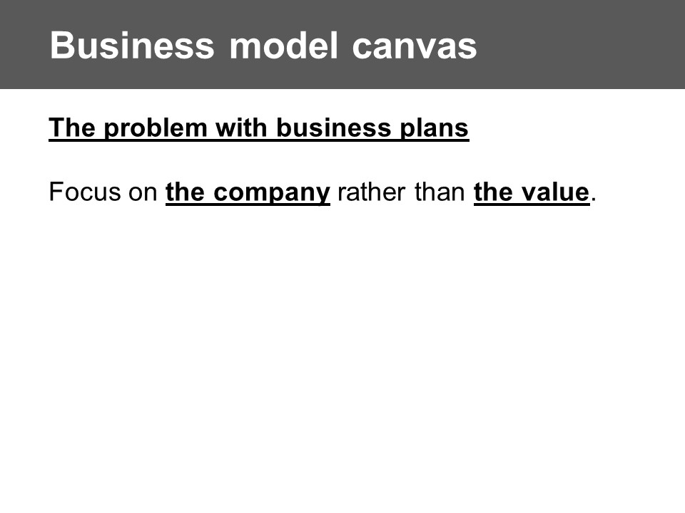 Why not Business Plan?