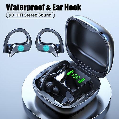 Ασύρματα ακουστικά Bluetooth για αθλήματα, αφής με μικρόφωνο