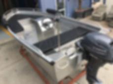 aluminium boot met motor
