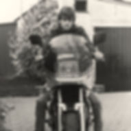 Ronald on his motorbike in Holland