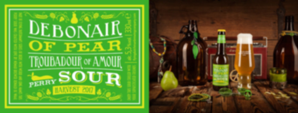 Debonair of pear troubadour of amour perry sour. award winning sour produced by The Flying Dutchman Nomad brewing company
