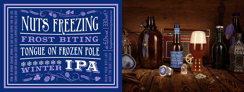 Nuts Freezing frost biting tongue on frozen ploe winter ipa. award winning IPA brewed for the winter