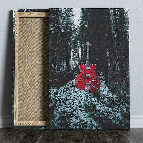 A3 - Red Hofner Canvas