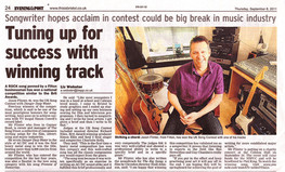 Jason wins UK Songwriting comp - 2011