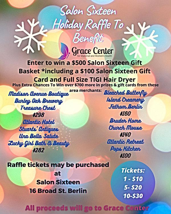 Salon Sixteen Holiday Raffle To Benefit