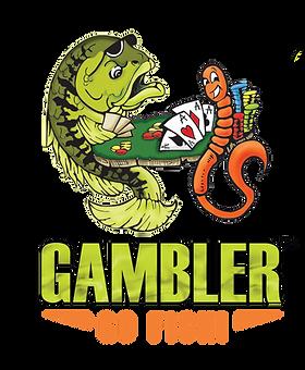 GamblerLuresLogoTransparent with fish on