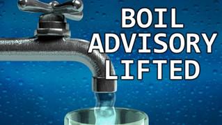 Boil Water Advisory Rescinded