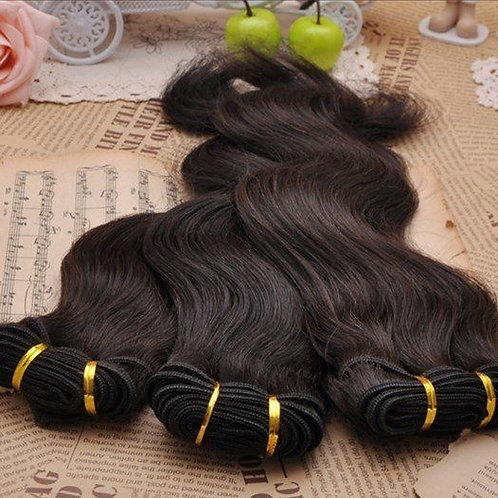1 bundle 50g Brazilian body wave remy hair products weft wavy human extensions w