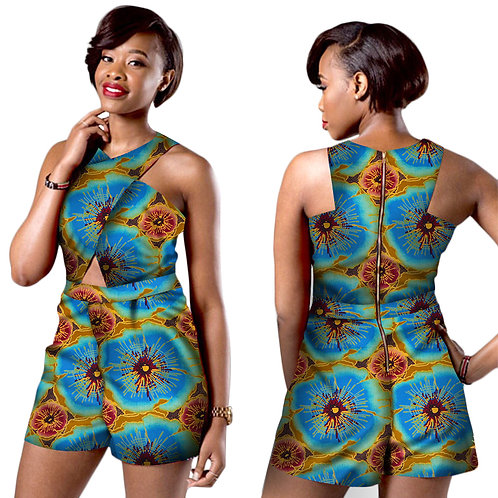 2018 Hot Sales African Bazin Shorts Set for Women Dashiki Elegant Plus Size Wome