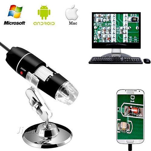 500x-1600x USB Digital Microscope 8 LED Light Mini Camera