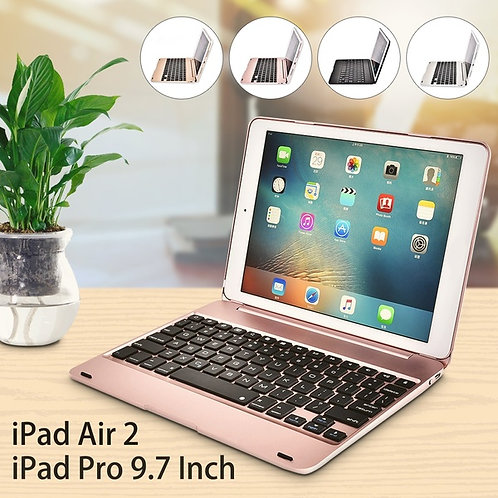 9.7 Inch Ultrathin Smart Bluetooth Keyboard Foldable Protective Case Stand For i