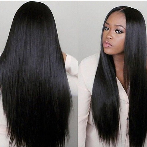 Fashion Hair Straight Human Hair Wigs African Wig Remy Hair Natural Color Wigs