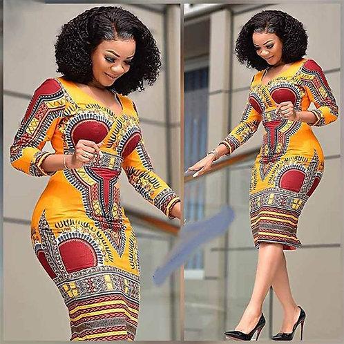 African Dresses for Women Dashiki Print