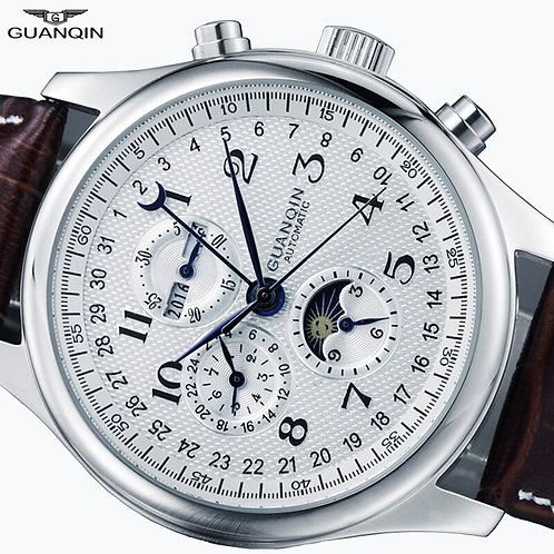 Automatic Waterproof Genuine Leather watch for men