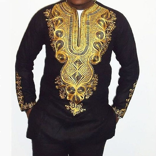 2 Pieces Clothing Set Men Shirt+trousers African Style