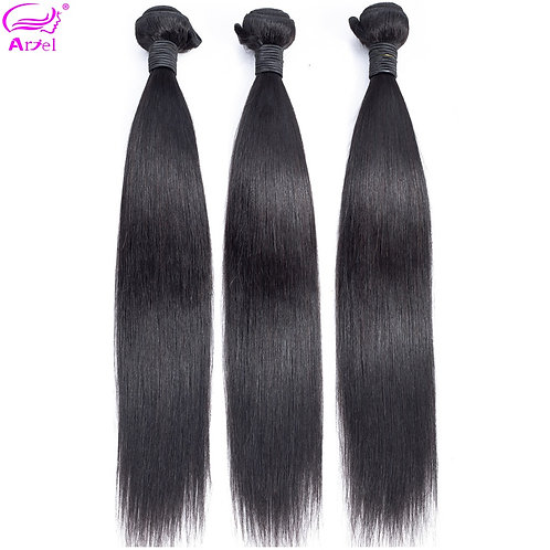 100% Human Hair 32 Inch Natural Color Non Remy Hair Extension