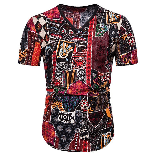 African Clothes Forest Style T-Shirt for Men
