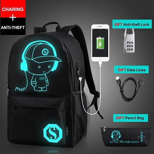 Cartoon School Bag Luminous School Backpack