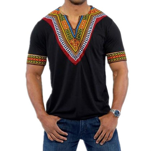 African Clothes Tops T Shirt for Men