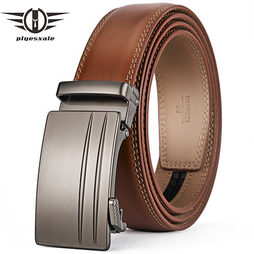 Automatic Buckle Belt for  Men Genuine Cow Leather