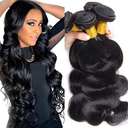 """Fashion Mixed Length 3 Bundles Brazilian Body Wave Hair Black(16"""".18"""".20"""")"""