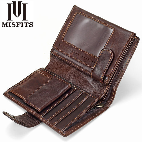 Vintage Men Wallet Genuine Leather